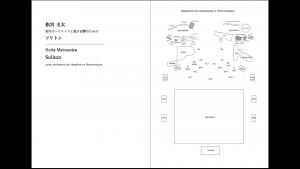 『ソリトン』スコア、楽器・機材配置図